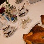 Détails de la table au petit déjeuné