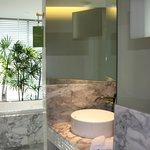 Superhäftigt badrum