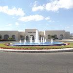 fountain outside the entrance