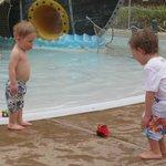 Boys just walk into pool