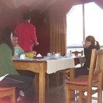 Desayunando en La Aldea