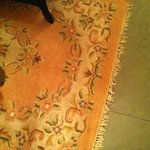 filthy rug and you don't want to see what it was covering up!