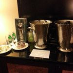Evening Inner Circle amenity--includes gin, tonic, donut, etc! Loved it!