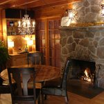 The Fireside room is where our morning gourmet is served, followed by the evening wine by