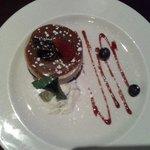 The carmel cheesecake.