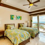 Two Single Beds in Grand Caribe's Mansion Unit