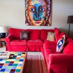 Loved the bright colors.  Sofa was very comfortable