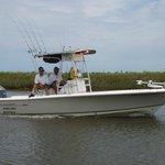 Four twenty four foot bay boats in our fleet