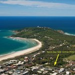 Byron Bay Side Central Motel Arial Photo