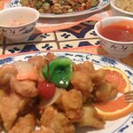 sweet sour ckn and kung pao chicken