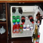 nicely stocked refrigerator