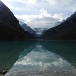 Lake Louise towards the glacier, just out the back entrance of the Hotel