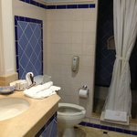 2nd bathroom, enter from hallway between bedrm & living rm, shower only