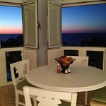 Gorgeous sunset from the dining room