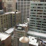 Vue de la chambre (il neige)