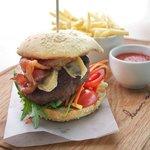 Bacon and camembert burger