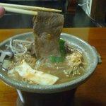 夕食・飛騨牛の陶板焼き