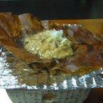 朝食・朴葉焼き味噌