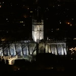 Bath Abbey from park