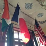 flags in the Dining Area