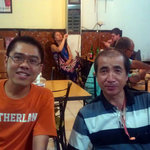 With Mr Hime from japan