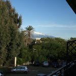 Part view of Mt Etna from our balcony