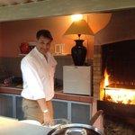Serge, cooking a la plancha