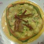 gnocchetti  con taleggio e zucchine in fonduta allo zafferano