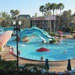 Resort pool and slide area