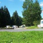 Touring area set amongst the woodland