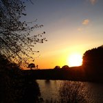 Sunset over beautiful shrigley hall