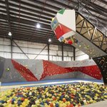 25 foot bouldering over a foam pit!