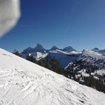 View of Tetons from the slopes