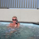 In the private pool upstairs