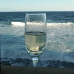 My bubbly at the beach house