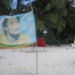 Sur la plage de Rocky Cay