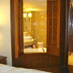 sliding doors from the bathroom to the bedroom
