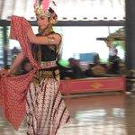elegant kraton dancer on a Sunday performance