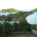 pool, lagoon, ocean and beach area from our room