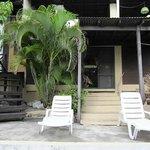 The patio area of Encanto
