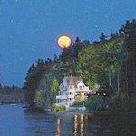 super moon over Castle Cove Inn