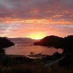 Sunset over Deep bay