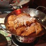 Hühnerbrust  knusprig gebacken mit Ananas, süß-sauer