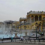 Szechenyi Baths, well worth a visit. £10 4 the day.