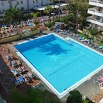 View of the pool from room 638