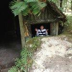 A Maori Whare (House)