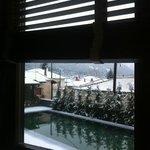 η θέα απτό δωμάτιο μας!