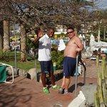 En la piscina con Idry