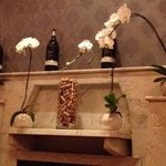 Fireplace and Orchid