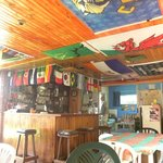 Note the flag-hung ceiling and bar area.  All the World Cup players represente